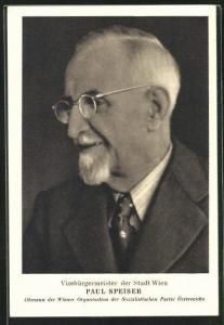 AK Paul Speiser, Vizebürgermeister der Stadt Wien, Obmann der Wiener Organisation der SPÖ