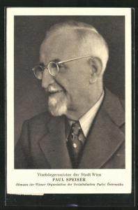 AK Paul Speiser, Obmann der Wiener Organisation der SPÖ, Vizebürgermeister der Stadt Wien