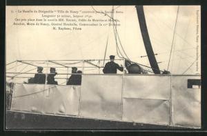 AK Französischer Zeppelin Ville de Nancy, Detail der Gondel