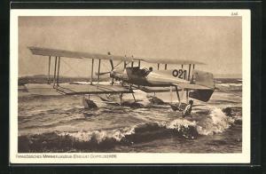 AK Französisches Marineflugzeug (Breguet-Doppeldecker)