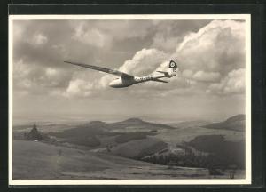 AK Segelflugzeug vom Typ Condor II a über der Wasserkuppe