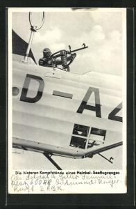 AK Hinterer Kampfstand eines Heinkel-Seeflugzeuges
