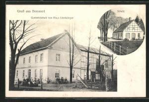 AK Bommert, Gasthaus von Hugo Lienkämper, Schule