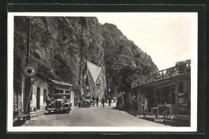 AK Ponte San Luigi, Italienische Grenze
