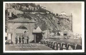 AK Grimaldi, Casino dei Balzi Rossi, visto dal territorio francese, Grenze