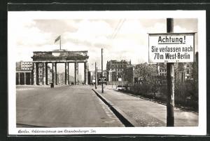 AK Berlin, Sektorengrenze am Brandenburger Tor
