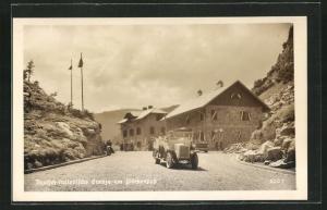 AK Deutsch-italienische Grenze am Plöckenpass