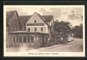 AK Buchfart, Gasthaus zum goldenen Stern