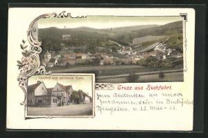AK Buchfart, Gasthaus zum golden Stern, Ortsansicht