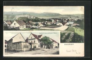 AK Buchfart, Gasthaus zum goldenen Stern, Ortsansicht