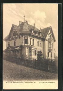 AK Sondershausen, Hotel Villa Hülsemann, Marienstrasse 41