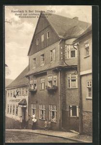 AK Manebach / Thür., Hotel zur schönen Aussicht