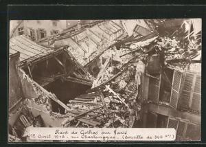 AK Paris, Raid de Gothas, Rue Charlemagne 1918, 2. Weltkrieg, Zeppelinbombardement