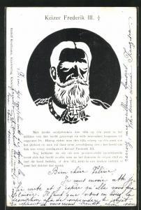 AK Keizer Frederik III., optische Täuschung