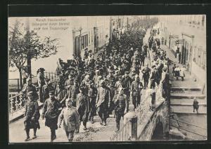 AK Ohrdruf, Marsch französischer Gefangener nach dem Truppenlager