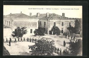 AK Saint-Martin-de-Ré, Le Bagne / Gefängnis, La Promenade des Forcats