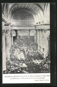 AK Taufe von Prinz Leopold von Belgien im Jahre 1902, Kirche St-Jacques-sur-Coudenberg