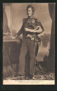 AK König Louis-Philippe von Frankreich in Uniform posiert mit Säbel