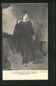 AK S.A.R. Prinzessin Charlotte von England in gerüschtem Kleid mit Umhang
