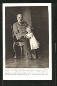 AK Kaiser Franz Josef I. von Österreich mit Enkel Franz Josef Otto