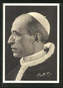 AK Papst Pius XII., Profilportrait
