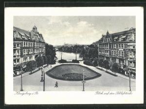 AK Königsberg i. Pr., Blick auf den Schlossteich