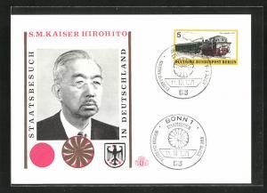 AK Staatsbesuch Kaiser Hirohito in Deutschland