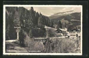 AK Österr. Grenzwirtshaus Walserschanz