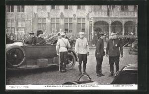 AK Furnes, Le Roi Albert, le Président et le General Joffre, 1. Weltkrieg