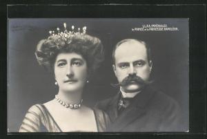 AK Prinz und Prinzessin Napoléon