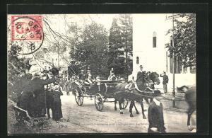 AK Gand / Gent, Weltausstellung 1913, Le Roi entrant à l`exposition..., König von Belgien