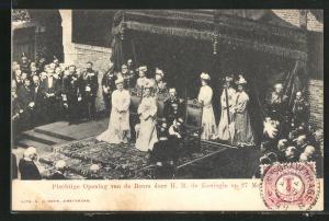 AK Königin von den Niederlanden bei einer Einweihungsfeier