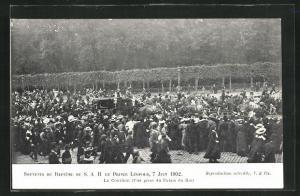AK Taufe des Prinzen Leopold von Belgien 1902