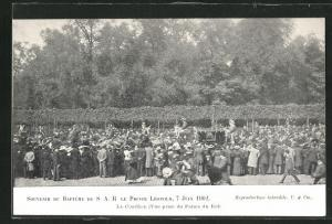 AK Taufe des Prinzen Leopold von Belgien 1902, Bapteme du Prince Léopold 1902