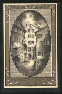 AK Schweizer Bundesfeier, Gottfried Keller`s Geburtshaus zum goldenen Winkel, Ganzsache