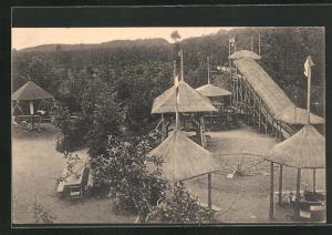 AK Logabirum, Gasthaus Etablissement Waldkur mit Spielplatz