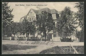 AK Bad Berka, Hotel-Pension Wettiner Hof