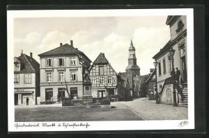 AK Quakenbrück, Markt mit Kirche