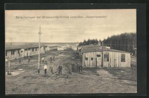 AK Unterlüss, Barackenlager der Minenwerfer-Schule