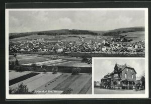 AK Katzenfurt, Gasthaus Zur Bahn und Panorama