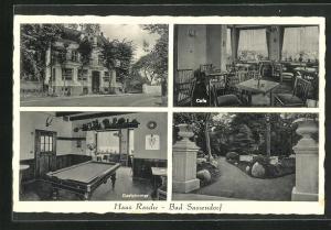 AK Bad Sassendorf, Hotel Haus Rasche, Gastzimmer mit Billard
