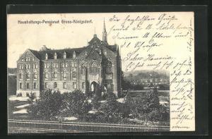 AK Gross-Königsdorf, Motiv vom Haushaltungspensionat