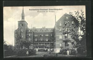 AK Gross-Königsdorf, Haushaltungspensionat, Rückansicht des Klosters