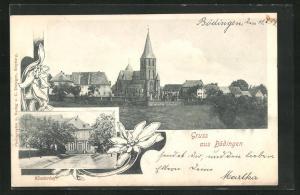 AK Bödingen, Klosterhof und Kirche