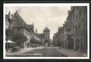 AK Villingen i. Schwarzwald, Motiv aus der Bickenstrasse