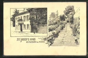 AK Finthen, Motiv vom St. Josef`s-Haus