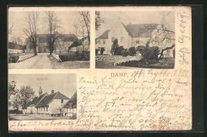 AK Damp, Kapelle und zwei andere Gebäude