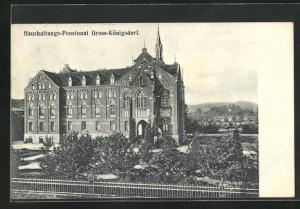 AK Gross-Königsdorf, Motiv vom Haushaltungs-Pensionat