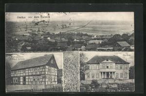 AK Berka vor dem Hainich, Restauration Grimm und Schloss