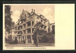 AK Wiesbaden, Hotel Fürstenhof, Sonnenbergerstrasse 32